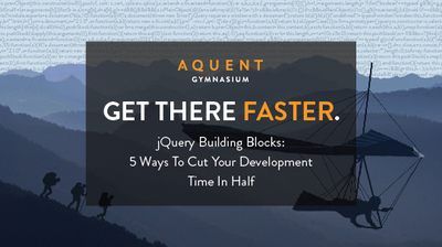 jQuery Building Blocks: A New Course from Aquent Gymnasium! image